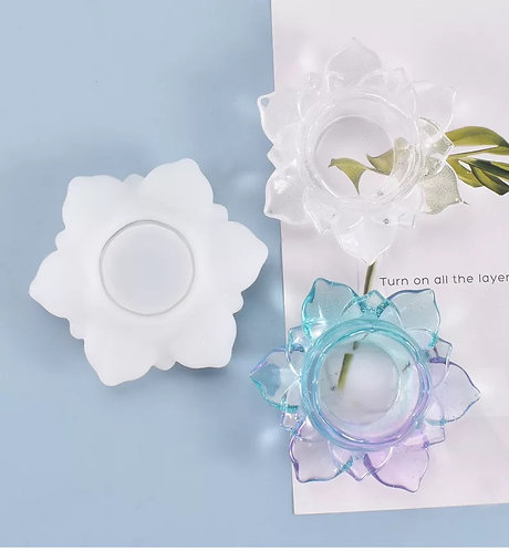 Flower Candle Dish