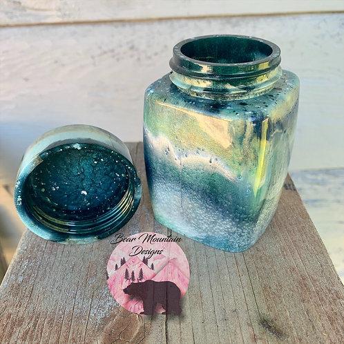 Small Square Jar