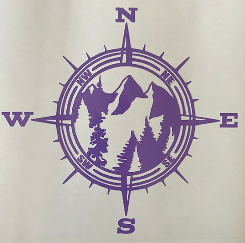 Mountain Compss Decal