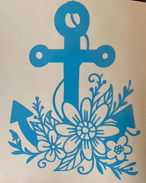 Flower Anchor Decal