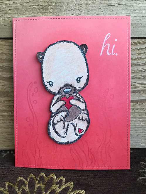 Hi Otter - Greeting Card
