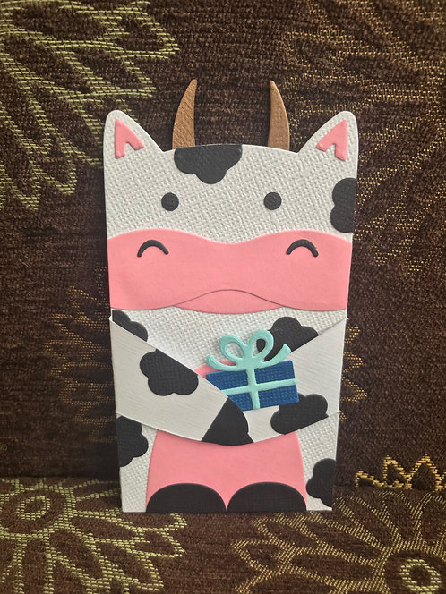 Cow - Gift Card Holder