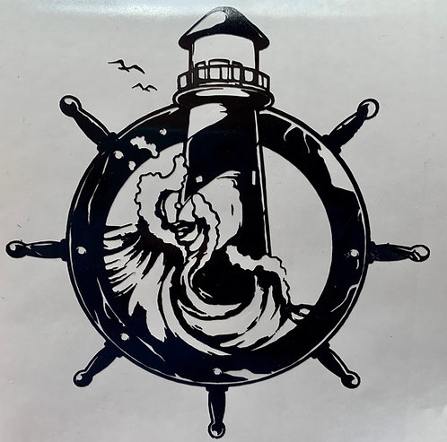 Lighthouse Waves Decal