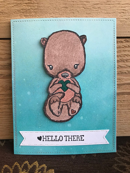 Hi There Otter - Greeting Card