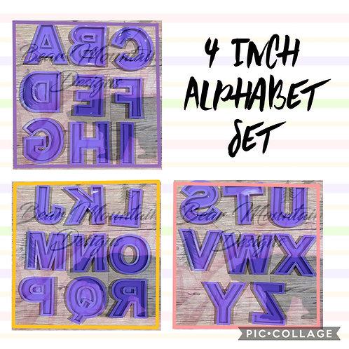 4 Inch Alphabet Set - Please Read Description