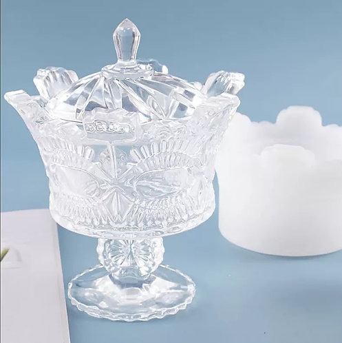 Crown Dish with Pedestal