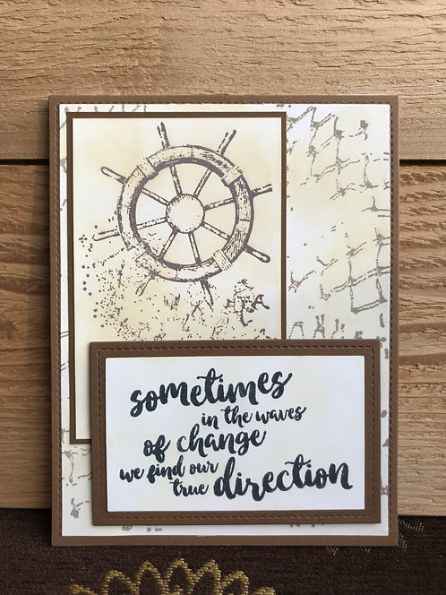 Ship Wheel - Greeting Card
