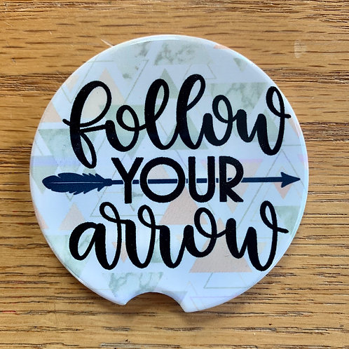 Follow Your Arrow - Car Coaster