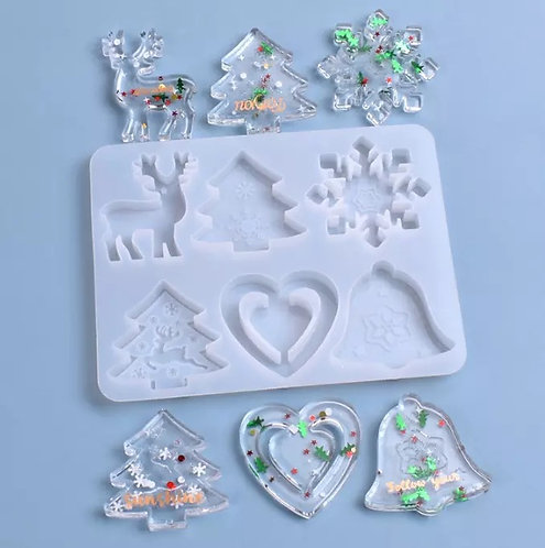 6 Cavity Christmas Mold