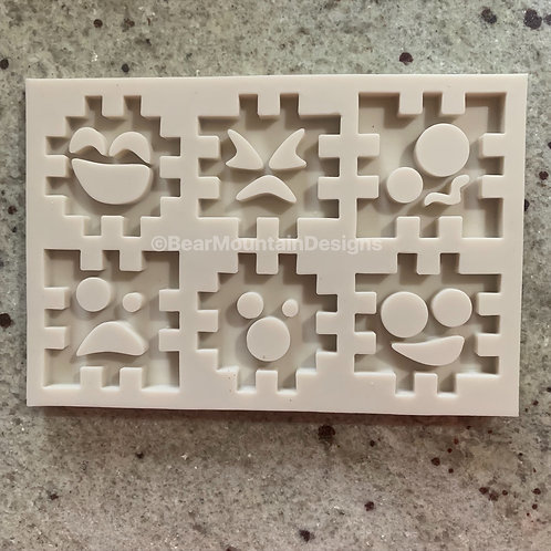 Funny Face Puzzle Mold