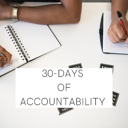 30-Days of Accountability Program