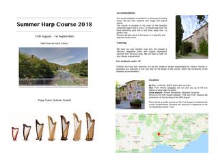 Summer Harp Course 2018