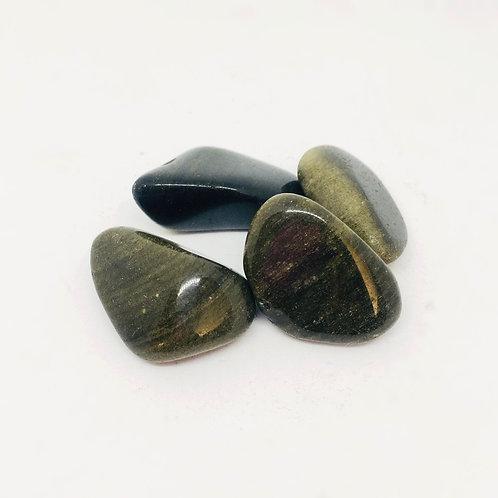 Tumbled Gold Sheen Obsidian
