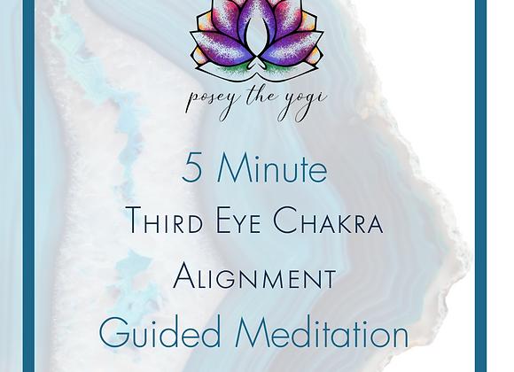 5 Minute Meditation - Third Eye Chakra