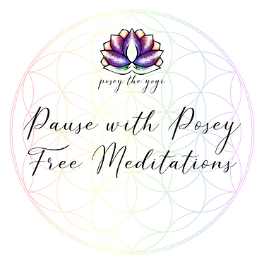 Posey the Yogi - Pause with Posey graphi