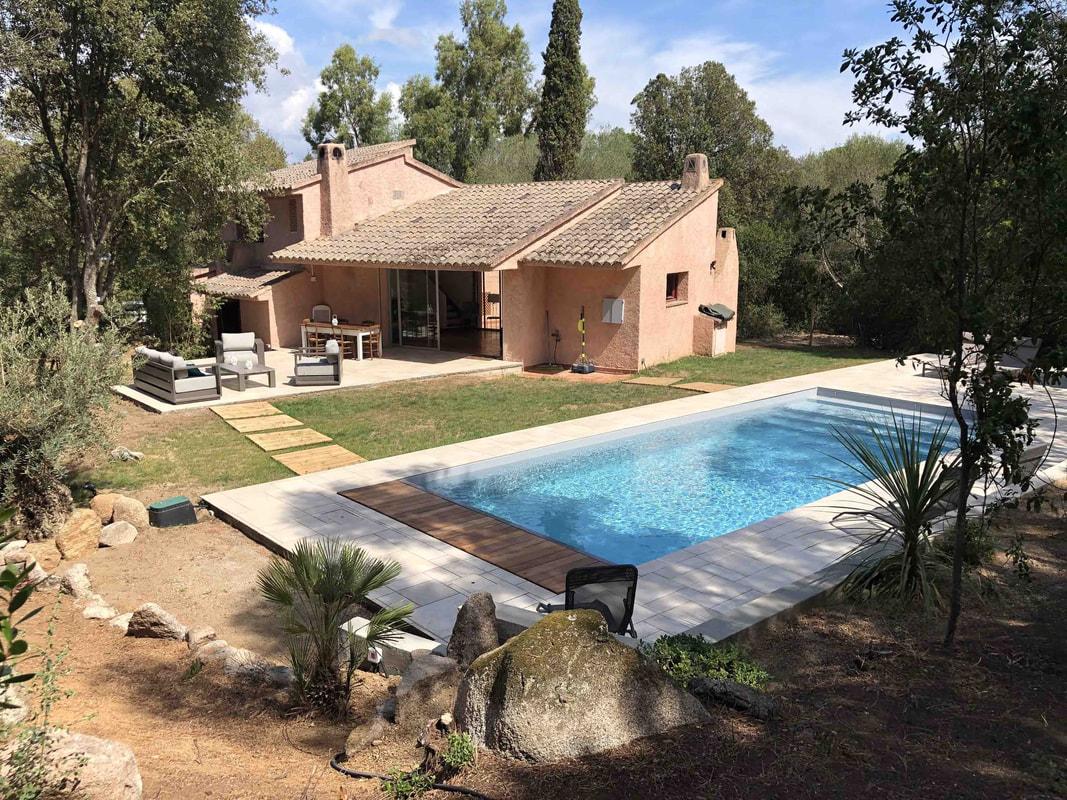villas avec piscine en corse