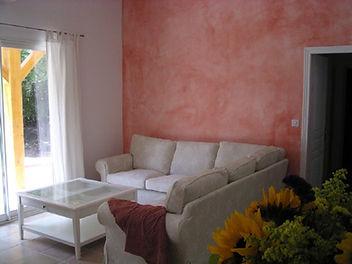 Vue sejour Casa litarriccia location meublé Corse