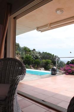Fewo Süd Korsika Pool und Meerblick