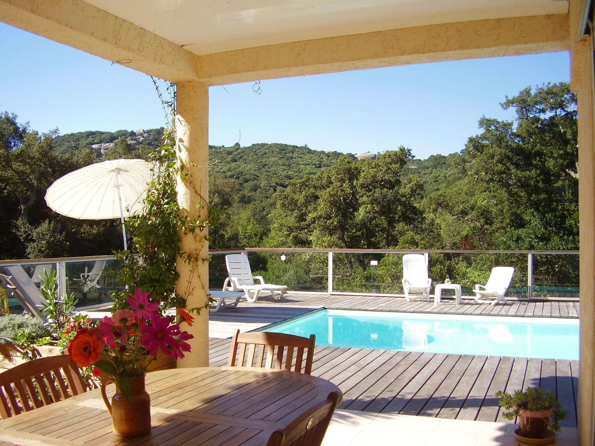 terrase jardin piscine