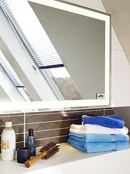 Wir bieten auch Spiegelheizungen für das Badezimmer ein. Spiegel und Heizung in einem.