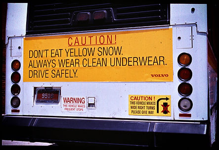VOLVO__WARNING SIGNS__Don't Eat Yellow S