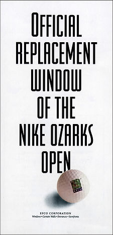 Sponosorship ad for the Nike Ozarks OPen