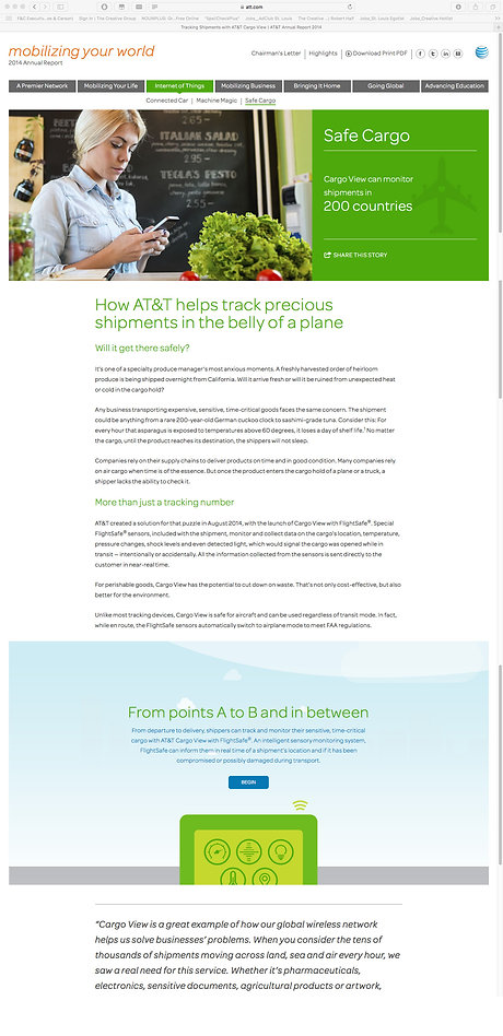 AT&T__ANNUAL REPORT__Safe Cargo Web Page