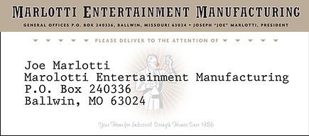 MARLOTTI ENTERTAINMENT_Mailing Label Art