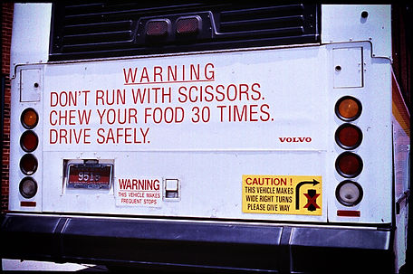 VOLVO__WARNING SIGNS__Don't Run With Sci