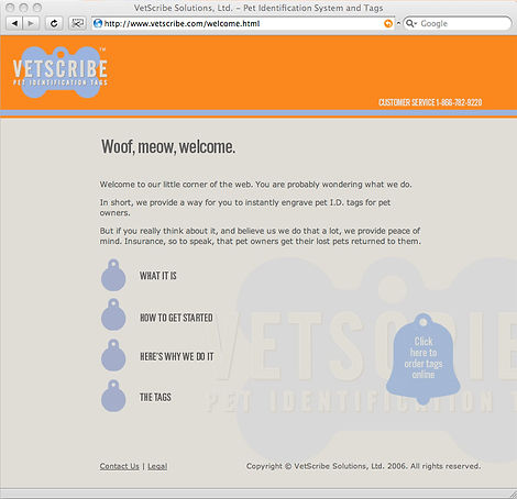 Vetscribe web site. Steve Swartz Creative and Art Director, Copywriter