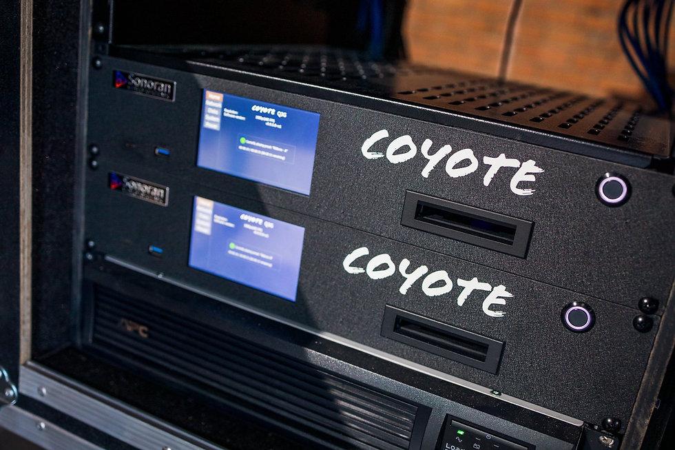 Coyote Servers in rack.jpg
