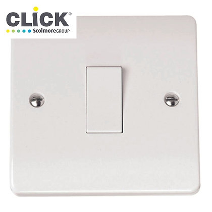 Click Scolmore Mode CMA011 10A  1 Gang 2 Way Plate Switch