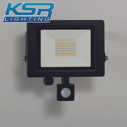 KSR 5285 Siena CCT 30W LED Flood Light C/W PIR