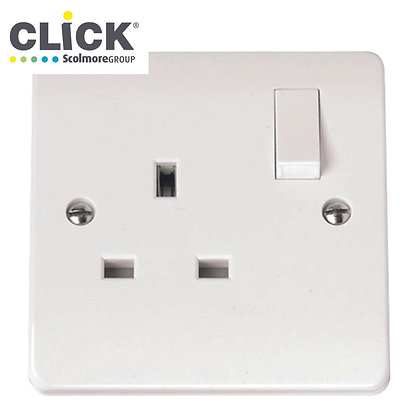 Click Scolmore mode CMA035 13A 1 Gang DP Switched Socket