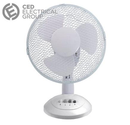 CED Airmaster TF12N 12 Inch 3 Speed Oscillating Desk Fan