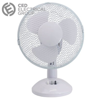 CED Airmaster TF9N 9 Inch 2 Speed Oscillating Desk Fan