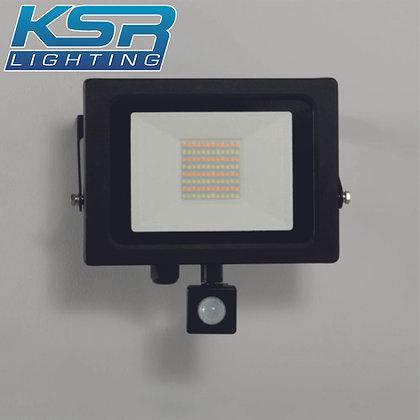 KSR 5287 Siena CCT 50W LED Flood Light C/W PIR