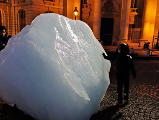 "Ice Watch Art Installation: ""You are undone if you once forget that the fruits of the earth bel"
