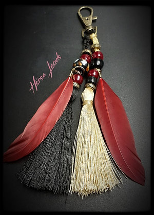 Bridle and Saddle Tassle with Feathers