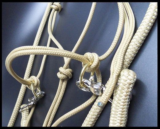 Rope Reins and Side Pull Rope Halter