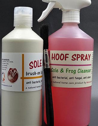 Sole Saver & Hoof Spray Combo