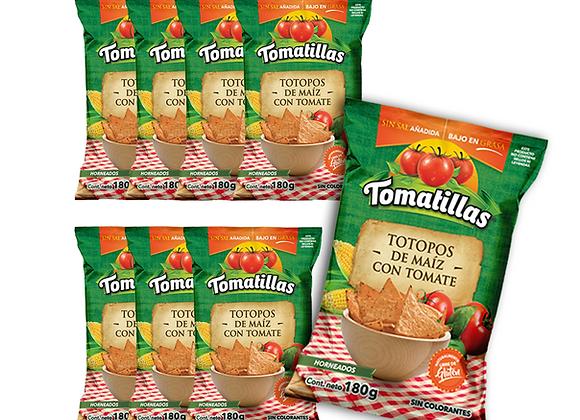 8 paq. - Totopos Tomatillas