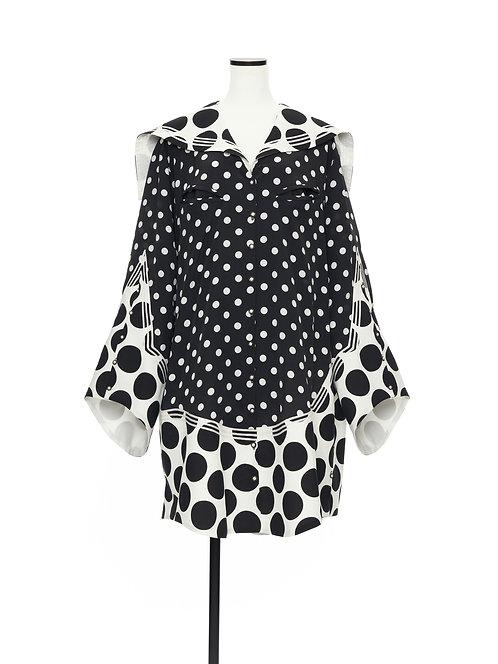 Sailor collar shirt jacket Polka dot disease