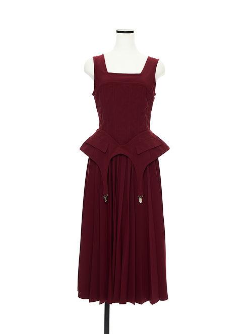 Garter dress Dark red