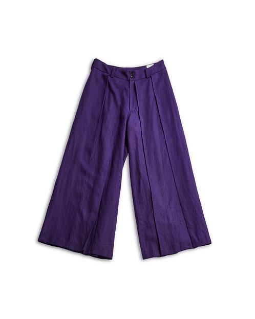 Linen Hakama Pants Purple