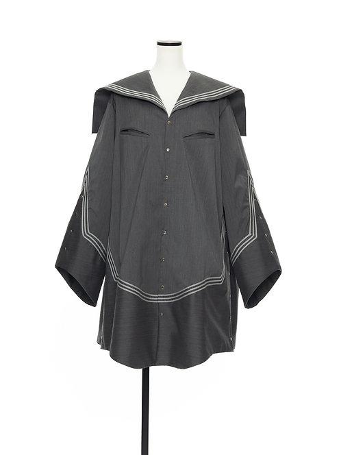 Sailor collar shirt jacket Gray