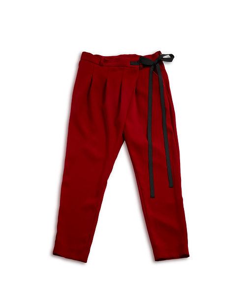 Assymentry pants Red