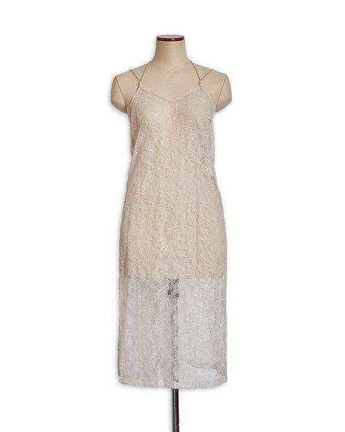 Veil dress Beige
