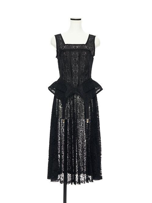Garter dress Black lace