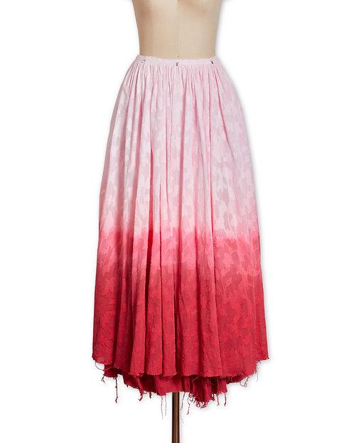 Gradation cotton skirt Red